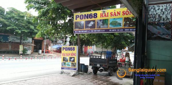 Sang nhanh quán nhậu khu dân cư đông đúc mặt tiền đường Tân Thới Nhất 8, phường Tân Thới Nhất. quận 12.