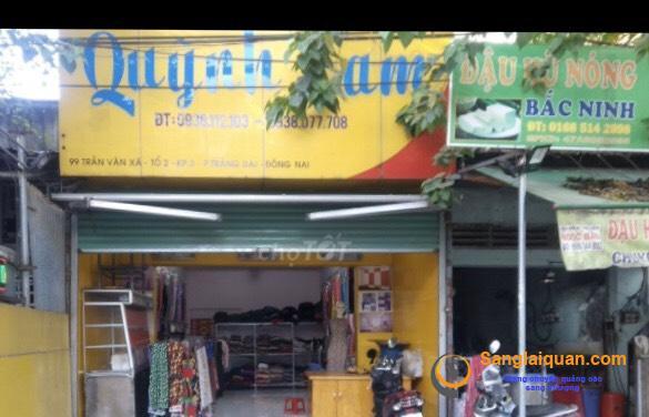 Sang shop vải mặt tiền đường Trần Văn Xã, phường Trảng Dài, thành phố Biên Hòa, Đồng Nai.